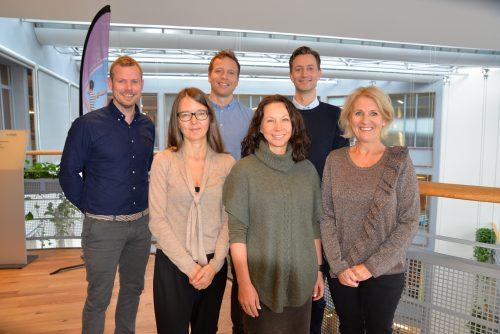 Bilde av seks personer som utgjør miljøgruppa i LMI
