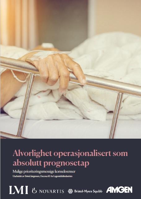 Alvorlighet operasjonalisert som absolutt prognosetap