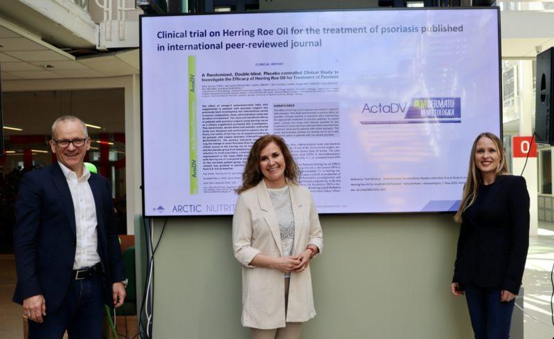 Arctic Nutrition feirer studieresultater for psoriasismedisin med å motta SIVA-prisen