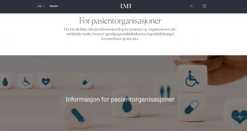 Ny side for pasientorganisasjoner på LMI.no